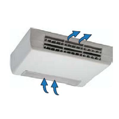Ventiloconvector carcasat orizontal cu picioare, o baterie si priza de aspiratie inferioara - 1,50 kW