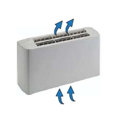 Ventiloconvector carcasat vertical cu o baterie si priza de aspiratie inferioara - 1,50 kW