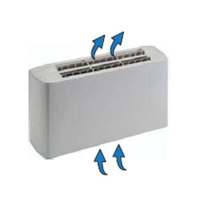 Ventiloconvector carcasat vertical cu doua baterii si priza de aspiratie inferioara - 1,45 kW