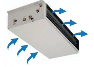 Centrala slim/redusa de ventilatie pentru tubulatura UTX-Z1-221 - 9,96 kW