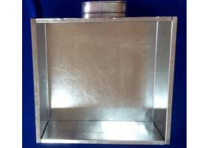 Adaptor pentru grile si anemostate de 100*200 mm