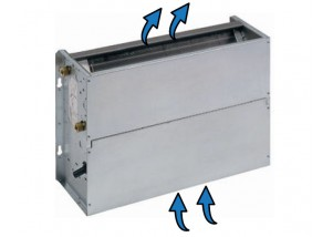 Ventiloconvector necarcasat vertical cu o baterie si priza de aspiratie inferioara - 10,71 kW