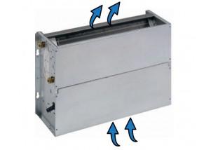 Ventiloconvector necarcasat vertical cu doua baterii si priza de aspiratie inferioara - 9,42 kW