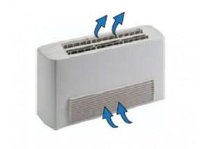 Ventiloconvector carcasat vertical cu o baterie si priza aspiratie frontala - 1,50 kW
