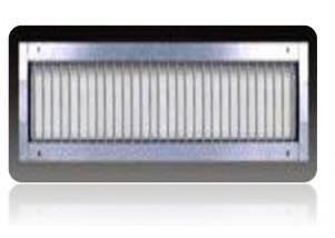 Grila simpla deflexie pentru tubulatura circulara rigidă 525*125 mm