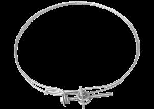 Colier de prindere din sarma zincata pentru tubulatura circulara Ø 90 mm