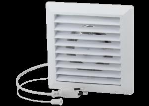 Ventilator uz rezidential Ø100 mm cu jaluzea si intrerupator cu cablu