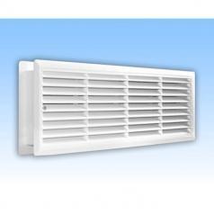 Grila de ventilatie dubla pentru usa 453*91 mm - alba